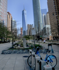 World Trade Center from Hudson Linear Park