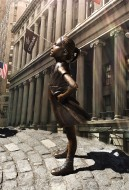 The little girl staring down the Wall Street Bull.