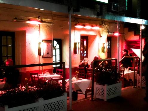 Sidewalk cafe on West 46th street