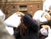 Pillow fight at Washington Square