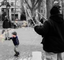 Bubbles in Washington Square