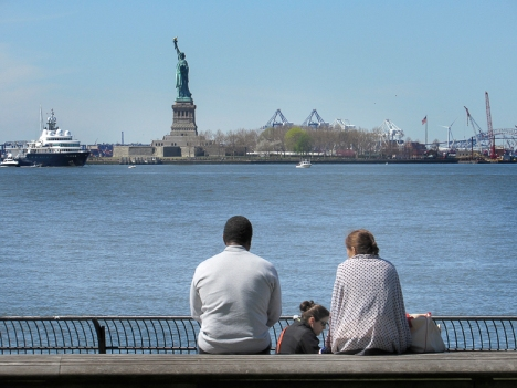 Battery Park, View of Lady Liberty