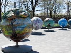 Art display for Earth Day - Battery Park