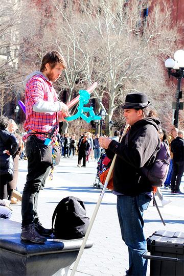 Washington Square entertainer