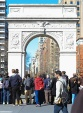 The arch placed in recognition of the 100th anniversary of George Washington's inauguration
