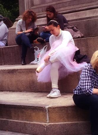 Ballerina at Columbus Circle