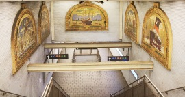 Subways are filled with tile art