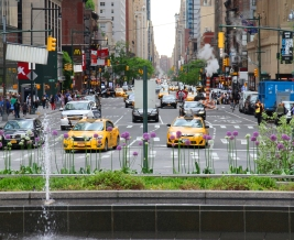 Central Park, from Columbus Circle