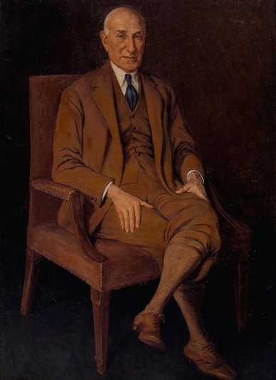 Portrait of Solomon Guggenheim in the Traditional style