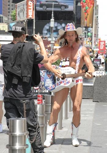 Naked Cowboy at Times Square