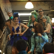 Mermaids ready for a parade