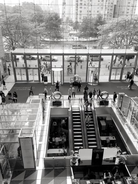 The shops at Columbus Circle. I love this second floor view.