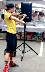 Electric Violin player brought contemporary life to this instrument