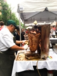 Food festival on 46th street - Roasted Pork