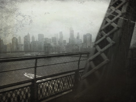 View from the train to Brooklyn on a rainy day