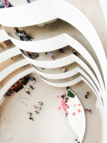 Guggenheim looking down from the top