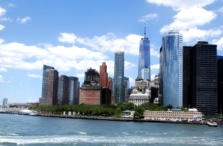 View of Southern Tip of Manhattan from Ferry