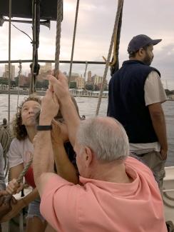 Hoisting the Sails - Photo by Joyce Wright