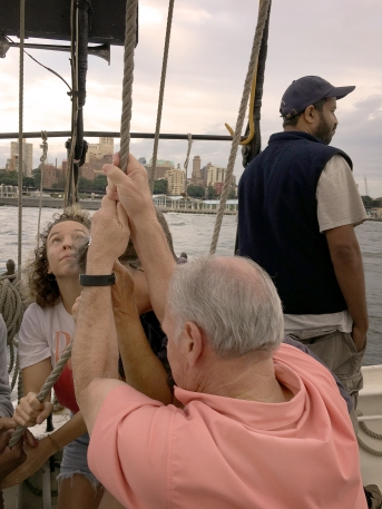 Hoisting the Sails - Photo by Joyce Wright