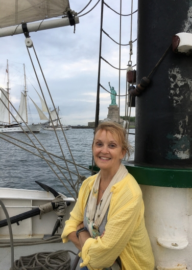 Just happy to be sailing - Photo by Joyce Wright
