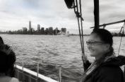 Joyce on our sailing excursion
