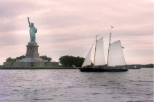 Sailing to the Statue of Liberty