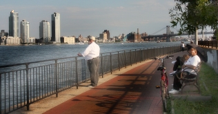 East River Promenade where we PLANNED to watch the fireworks