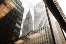 Reflections in glass buildings