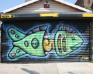 Money Fish by Free5.nyc Dominican born, NYC raised artist.  Also created a series of street sculptures from empty spray cans.