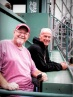 Tip and Dave on the Green Monster - Fenway Park