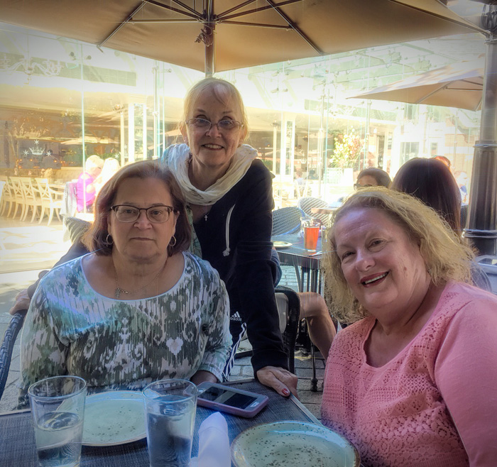 Lunch with friends. Mary and Vicki