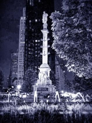 08132017 IMG_5429 Columbus circle at night